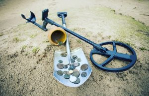 best metal detector having found coins