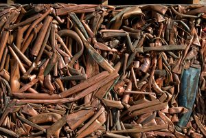 copper scrap compressed
